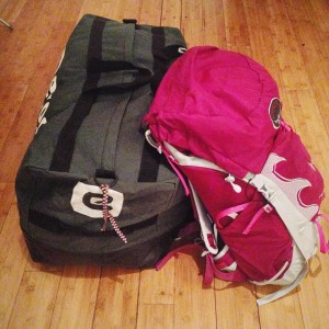 Packed and (nearly) ready for Kilimanjaro!!
